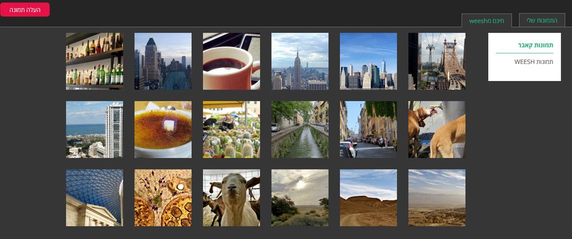 ממשק ניהול והחלפת תמונות באתר
